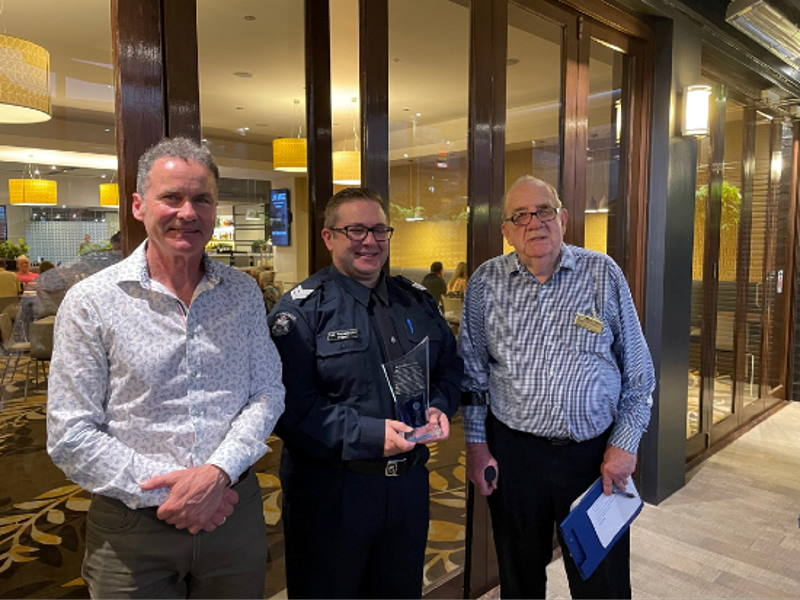 Sergeant Con Matsamakis, Chris Bence and Barrie Williams
