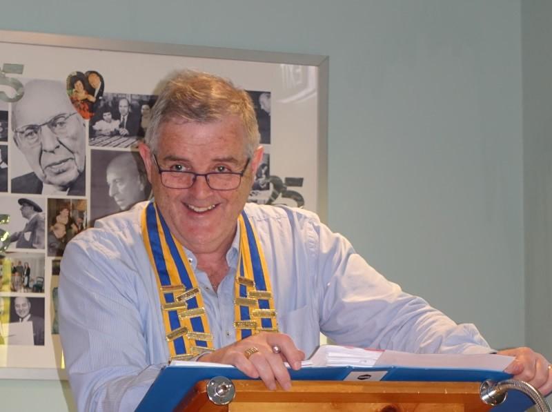 Ian Bushby rosanna rotary president 2017-2018