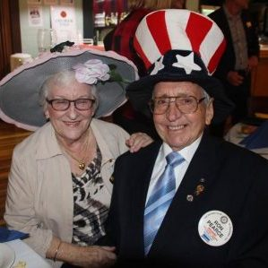 Ron & Marilyn Pearce winners of the ARH hat night